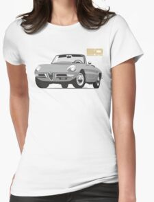 Alfa Romeo Series 2 Spider silver Womens Fitted T-Shirt