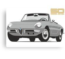 Alfa Romeo Series 2 Spider silver Canvas Print