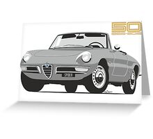 Alfa Romeo Series 2 Spider silver Greeting Card