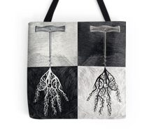 Hands roots black, white and grey Tote Bag