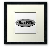 heavy metal Framed Print