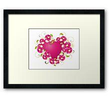 design with Floral heart  Framed Print