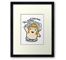 Dr Who Donna Noble Adipose Bride Framed Print