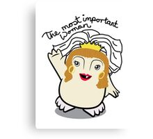 Dr Who Donna Noble Adipose Bride Canvas Print