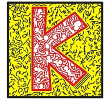 keith, haring, keith haring, graffiti, trending, symbol, pop art, funny, logo, people, family, motif, paris, famous. Photographic Print