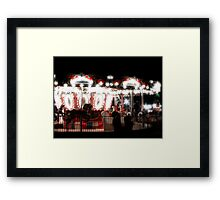 The Empty Carousel Framed Print