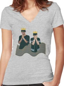Louis the Child Design Women's Fitted V-Neck T-Shirt