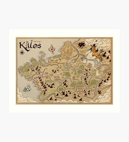 Kalos Map Art Print