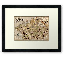 Kalos Map Framed Print