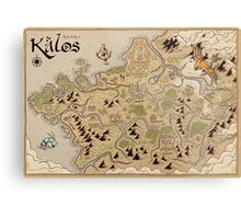 Kalos Map Metal Print