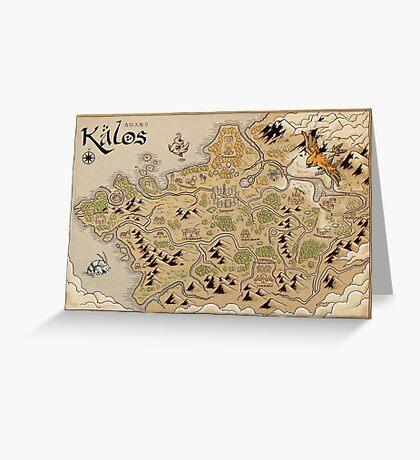 Kalos Map Greeting Card