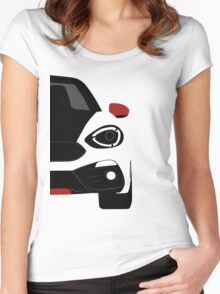 Spider simple front end Women's Fitted Scoop T-Shirt