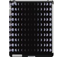 Holomoon- Hologram Moon Phases on Black Onyx iPad Case/Skin