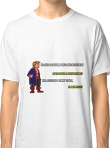 Guybrush Threepwood - Mustache Quote Classic T-Shirt