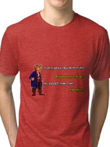 Guybrush Threepwood - Mustache Quote Tri-blend T-Shirt