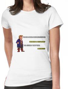 Guybrush Threepwood - Mustache Quote Womens Fitted T-Shirt