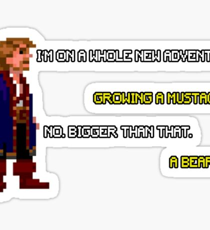 Guybrush Threepwood - Mustache Quote Sticker
