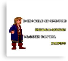 Guybrush Threepwood - Mustache Quote Metal Print