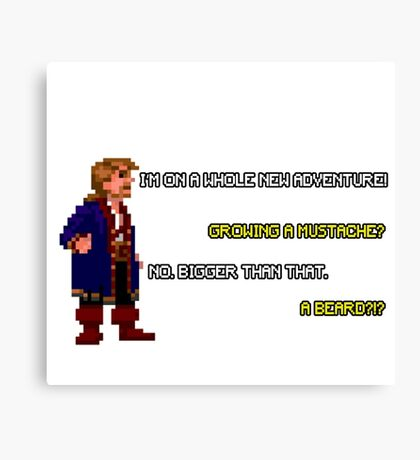 Guybrush Threepwood - Mustache Quote Canvas Print