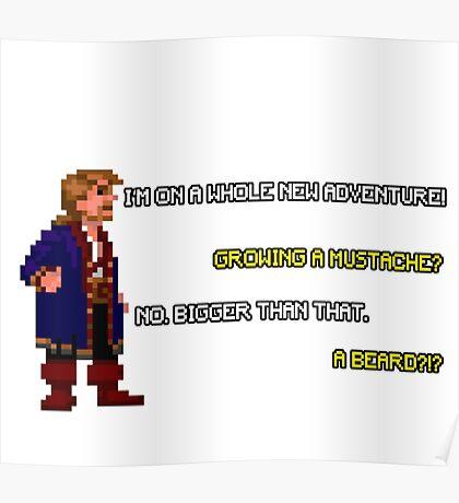 Guybrush Threepwood - Mustache Quote Poster