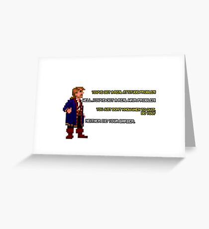 Guybrush Threepwood vs Meathook Greeting Card