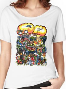 Pizza, Robots, and a crazy bunch of other stuff... Women's Relaxed Fit T-Shirt