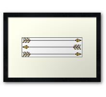 gold arrows Framed Print