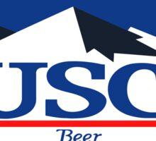 busch, buschlight, beer, drink, thin, mountain. Sticker