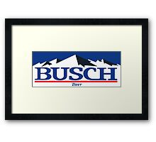 busch, buschlight, beer, drink, thin, mountain. Framed Print