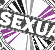Certified Asexual Stamp Sticker