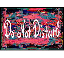 Do Not Disturb Photographic Print
