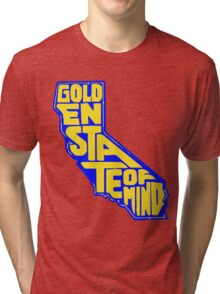 Golden State of Mind Blue/Yellow Tri-blend T-Shirt