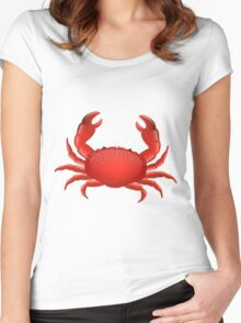 Crab Women's Fitted Scoop T-Shirt