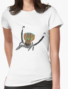 Peacock Spider Womens Fitted T-Shirt