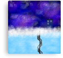 TARDIS on a Cloud- The Snowmen Canvas Print