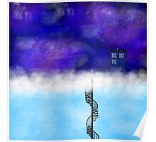 TARDIS on a Cloud- The Snowmen Poster