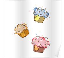 Cute muffins Poster