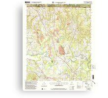USGS TOPO Map Alabama AL Manchester 304474 2000 24000 Canvas Print
