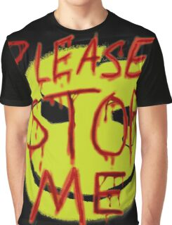 """Smileys """"Please Stop Me"""" Graphic T-Shirt"""