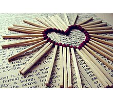 Matches Heart Photographic Print