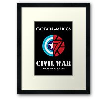 captain america civil war Framed Print