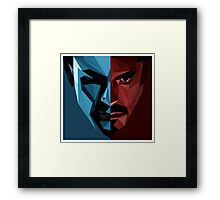 civil war captain america Framed Print