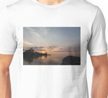 Heavenly Sunrays - Pink Sunshine Through the Clouds Unisex T-Shirt