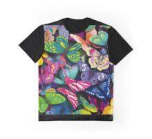 Color Butterflies Graphic T-Shirt