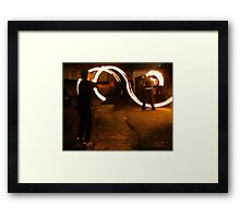 Fireplay 1 - Halloween, Derry 2012 Framed Print