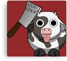 Cow Chop Knife BG Canvas Print