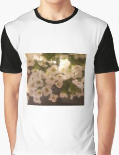 Shadow Clan White Flowers Graphic T-Shirt