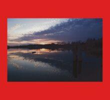 Sunset Sentinels - Three Pillars Guarding the Sundown Reflections One Piece - Short Sleeve
