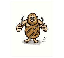 Caveman Diet, 2014 Art Print