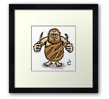 Caveman Diet, 2014 Framed Print